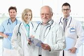 stock photo of professor  - Team photo of healthcare workers - JPG