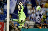 BARCELONA - SEPT, 5: Adrian San Miguel of West Ham United in action during a friendly match against