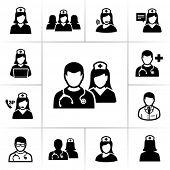 Iconos de enfermeras