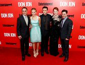 NEW YORK-SEP 12: (l-r) Tony Danza, Scarlett Johansson, Joseph Gordon-Levitt, Julianne Moore and Jeremy Luc attend the