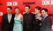 NEW YORK-SEP 12: (l-r) Tony Danza, Scarlett Johansson, Joseph Gordon-Levitt, Julianne Moore and Jere