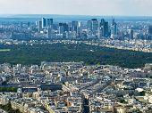 View Of La Defense From Eiffel Tower