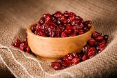 A Bowl Of Dried Cranberries