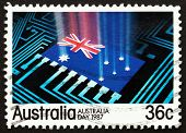 Postage Stamp Australia 1987 National Flag