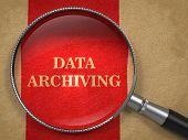 Data Archiving - Magnifying Glass.
