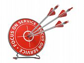Focus on Service Slogan - Hit Target.
