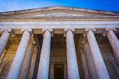 picture of thomas jefferson memorial  - Looking up at the Thomas Jefferson Memorial in Washington DC - JPG