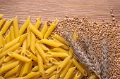 Wheat And Whole Wheat Penne Rigate Pasta