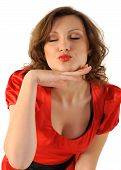 Female Blowing a Kiss