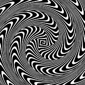 stock photo of hypnotic  - Black and White Hypnotic Background - JPG
