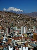 Modern city centre of La Paz