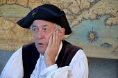 Man re-enacting New France era
