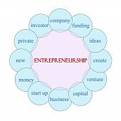 pic of entrepreneurship  - Entrepreneurship concept circular diagram in pink and blue with great terms such as company funding ideas and more - JPG