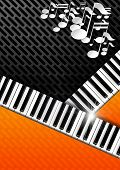 Music Background With Piano Keys