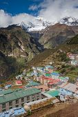 Highland Village Namche Bazar In Khumbu Region, Nepal