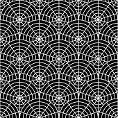 Design Seamless Monochrome Spider Web Pattern. Uncolored Geometric Circular Diagonal Background