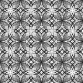 stock photo of uncolored  - Design seamless uncolored decorated floral pattern - JPG