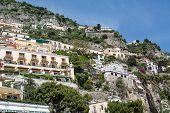 Balconies On Homes Over Positano
