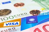 Visa Credit Card And Global Blue Tax Free Against Cash Money