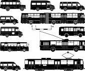 Sistema de transporte público hi-detallado Vector