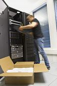 Fast IT Consultant install a router or server