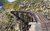 Railway Bridge On Taieri Gorge New Zealand