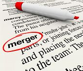 picture of combine  - Merger Dictionary Definition Word Combine Companies Businesses - JPG