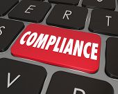 Compliance Computer Key Button Online Rules Law Advice