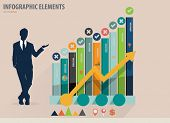 Infographic design template - modern design graph with infographics elements, can use for business c