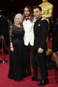 LOS ANGELES - MAR 2:  Constance Leto, Jared Leto, Shannon Leto at the 86th Academy Awards at Dolby T