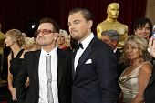 LOS ANGELES - MAR 2:  Bono, Leonardo DiCaprio at the 86th Academy Awards at Dolby Theater, Hollywood