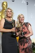 LOS ANGELES - MAR 2:  Beverley Dunn, Catherine Martin, winners  at the 86th Academy Awards at Dolby