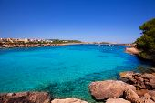 Ibiza Port des Torrent near San Antonio beach in Balearic Islands Spain