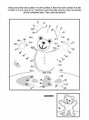 stock photo of teddy  - Connect the dots picture puzzle and coloring page  - JPG