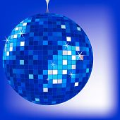 Discoball Blue 2 poster
