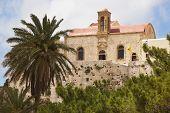 Chrisoskalitissa Monastery In Crete. Built On A Rock. Greece