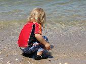 Little Boy Catching Fish