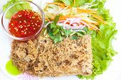 Crispy Catfish Spicy Salad.