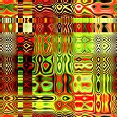 art abstract colorful geometric seamless pattern; background in gold, green and red colors