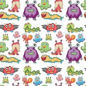 Illustration of a seamless monsters