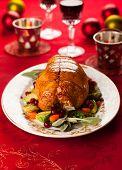 Fig and pistachio stuffed turkey breast