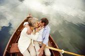 Senior couple on boat