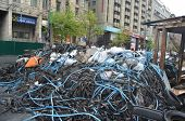 KIEV, UKRAINE - APR 19, 2014: Downtown  of Kiev,vandalised during Revolution of Dignity April 19, 20