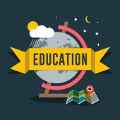 Education flat design concept for web and mobile services and apps