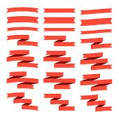 Set of flat ribbons