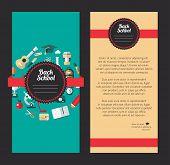 Vector school flat design flyer templates
