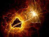 Dark Matter Explosion In Space