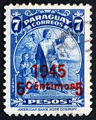 Postage Stamp Paraguay 1945 Christopher Columbus, Explorer