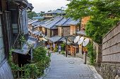 Beautiful Old Houses In Sannen-zaka Street, Kyoto, Japan.