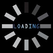 Abstract Loading Symbol On Black Background